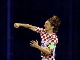 Modric opened the scoring in Zagreb. EFE