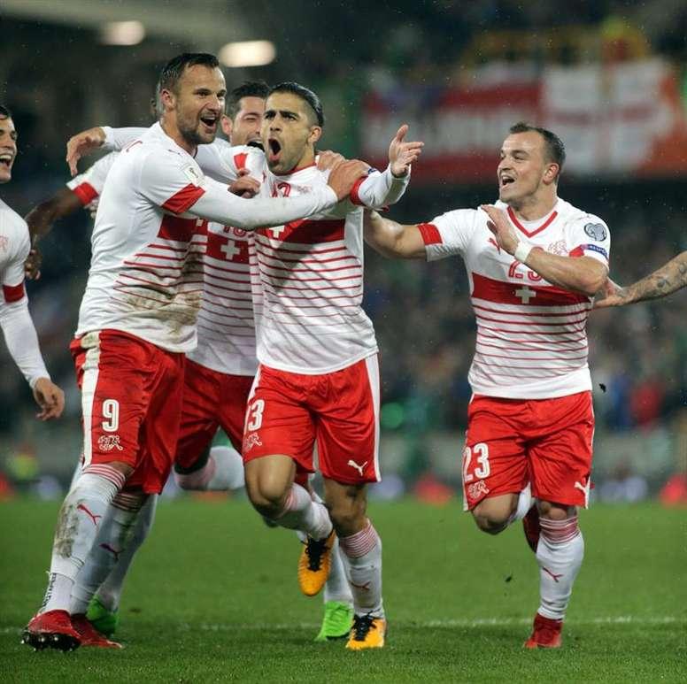 Ricardo Rodríguez anotó el único gol del partido. EFE
