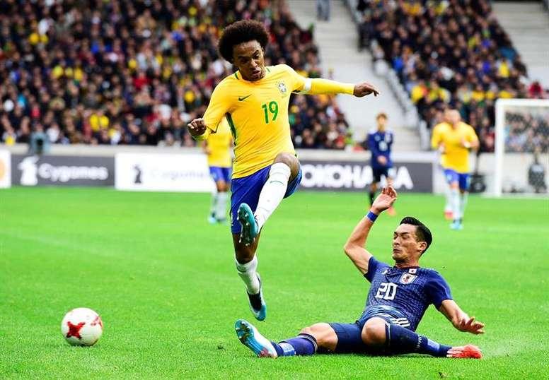 Willian é o substituto de Neymar para a Copa América. EFE