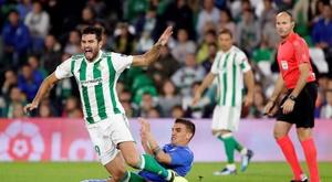 El Betis-Getafe fue denunciado por cánticos de la afición. EFE