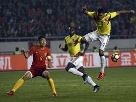 A Colômbia 'atropelou' a China em jogo amigável. EFE
