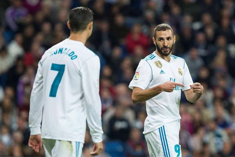 Benzema will have to do without Ronaldo as his forward partner at Madrid. EFE