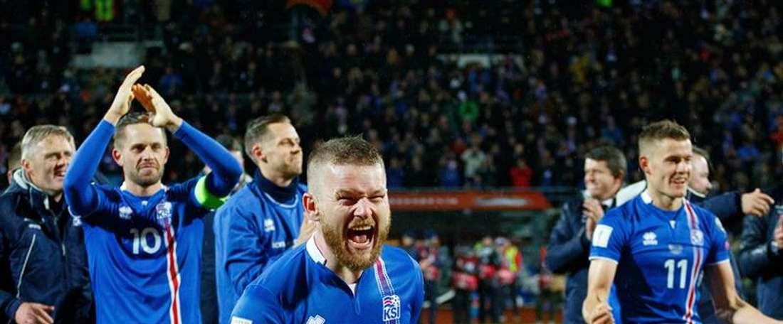 Islandia, debutante en un Mundial. EFE/Archivo