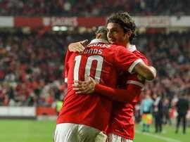 O Benfica venceu por 6-0 na receção ao Vitória de Setúbal. EFE