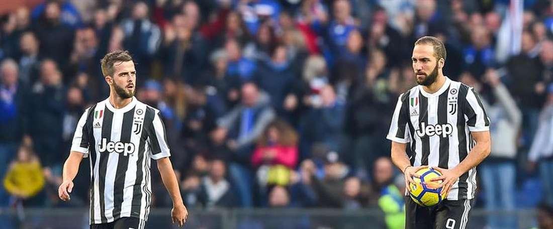 A Juve perdeu, por 3-2, com a Sampdoria. AFP