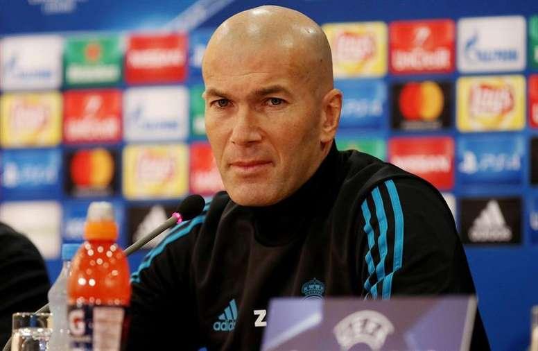 Zidane analizó el choque ante el PSG. EFE