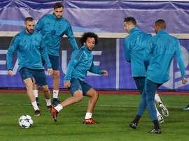 Les joueurs du Real Madrid à l'entraînement. EFE