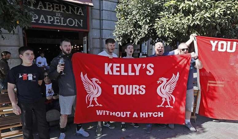 El Liverpool sale en defensa de sus aficionados. EFE/Archivo