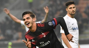 André Silva could line up alongside Piatek for Milan. AFP