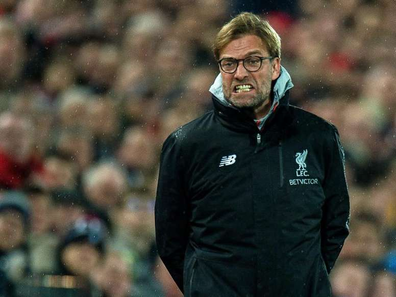 Jurgen Klopp was left frustrated after Sunday's 1-1 draw with Everton. EFE/Archivo