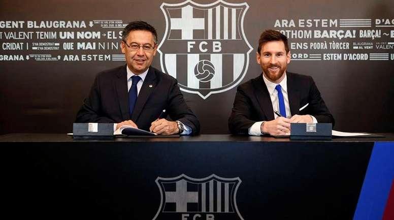 Lionel Messi podría renovar una vez más. EFE