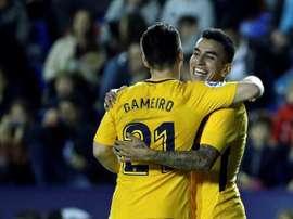 O Atlético goleou na visita ao Levante. EFE