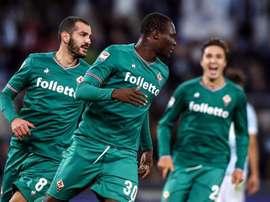 Babacar fez com que a Fiorentina conquistasse um ponto em Roma. AFP