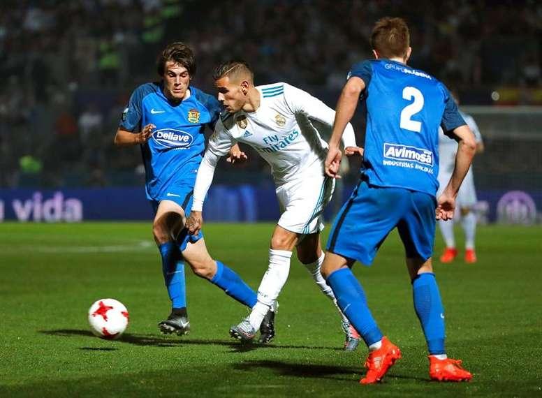 El Fuenlabrada empató en el Bernabéu. EFE