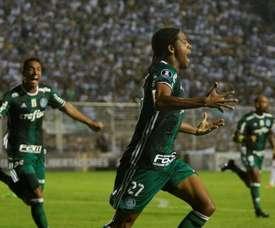 Festejo do Palmeiras, depois do segundo gol. EFE