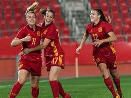 Olga Garcia anotó el segundo tanto. EFE