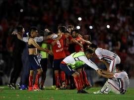 El 'Rojo' se proclamó campeón de la Sudamericana. EFE
