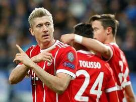 O Bayern recebeu e venceu o Hannover. EFE