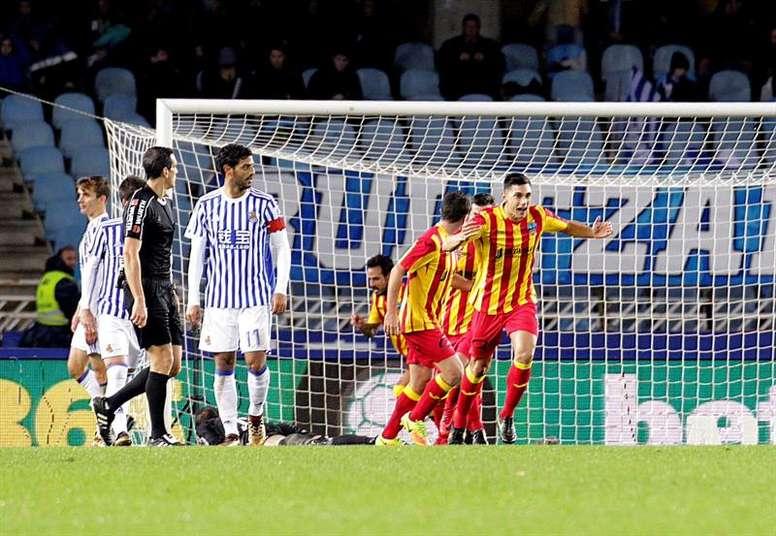 El Lleida Esportiu consiguió eliminar a la Real Sociedad. EFE