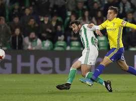 El futbolista del Cádiz espera que el equipo continúe con esta versión. EFE