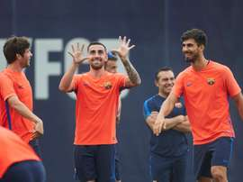 Gomes will say goodbye to the Camp Nou. EFE/Archivo