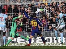 Barcelona e Celta empataram em 2-2. EFE