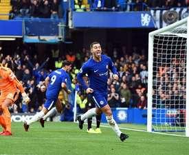 Sarri cree que Hazard puede ser el mejor delantero de todos. EFE/EPA
