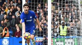 Morata no podrá estar en el siguiente partido de la Premier League. EFE/EPA