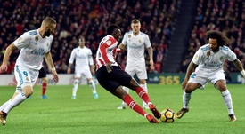 Iñaki Williams a couvert d'éloges Benzema. EFE