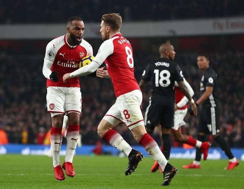O Arsenal bateu o Crystal Palace no Emirates. EFE/EPA