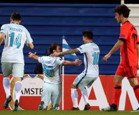 El Zenit logró llevarse la victoria de Anoeta. EFE