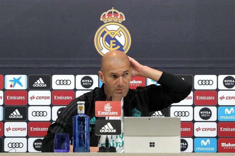 Zidane dejó claro que no quiere a nadie más en este mercado de invierno. EFE