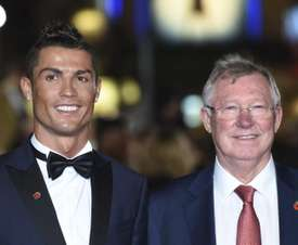 Ronaldo pictured with former Manchester United manager Sir Alex Ferguson. EFE