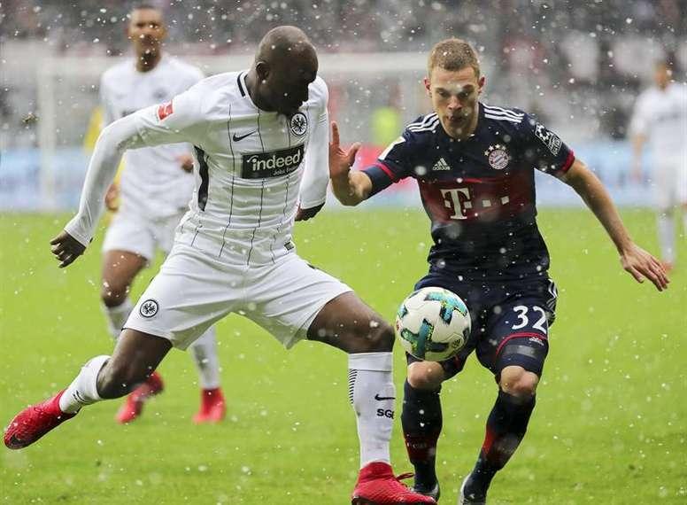Prováveis escalações de Bayern de Munique e Eintracht Frankfurt. EFE
