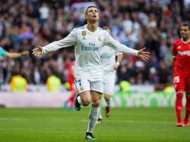 Ronaldo scored twice against Sevilla as Real ran out comfortable winners. AFP