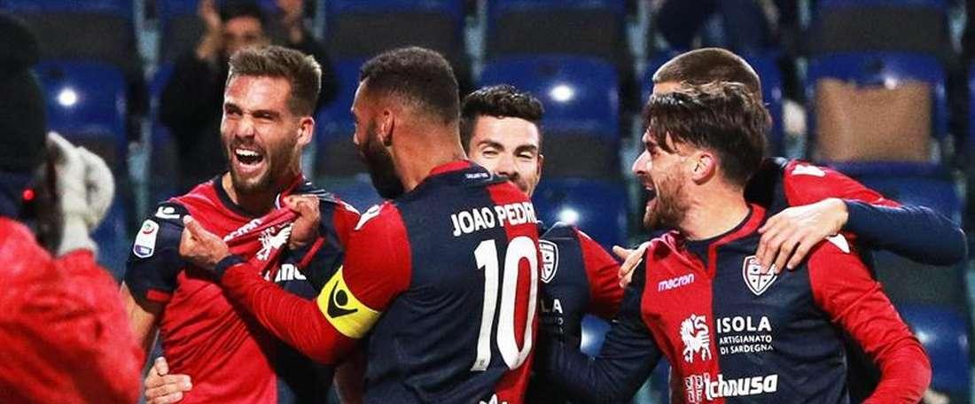 festejos, após o segundo gol. EFE