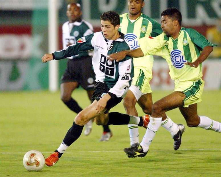El Sporting presumió del pasado de Cristiano Ronaldo. EFE