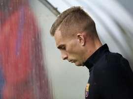 Deulofeu, magoado com o Barça. EFE