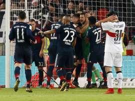 O Bayern venceu por 0-1 na visita ao Stuttgart. AFP