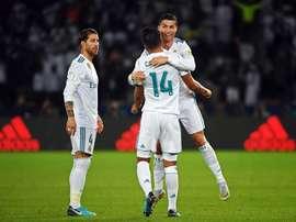 Real Madrid tem quatro jogadores no time ideal do 'L'Équipe'. AFP