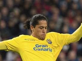 El central uruguayo jugará lo que queda de temporada en el club italiano. EFE/Archivo