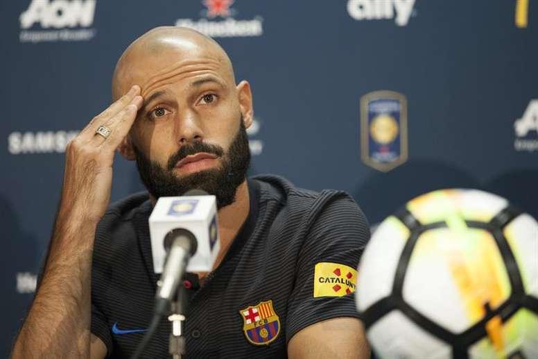 Mascherano abandonará el FC Barcelona tras la llegada de Yerry Mina. EFE