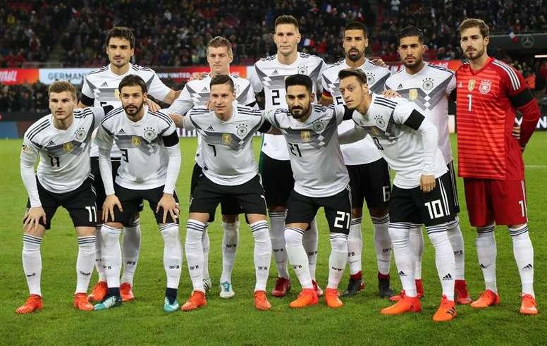 Alemania da la prelista para el Mundial de Rusia. EFE/Archivo