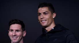 Cristiano fala sobre Messi em sua apresentação pela Juventus. EFE/Archivo