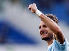Immobile anotó los dos goles de los 'biancocelesti' ante el Hellas. EFE/EPA/Archivo