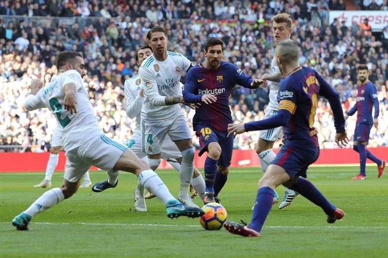 Messi conoce bien el Bernabéu... de azulgrana. EFE
