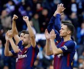El Barça ganó 0-3 en el primer 'Clásico' de la pasada campaña. EFE