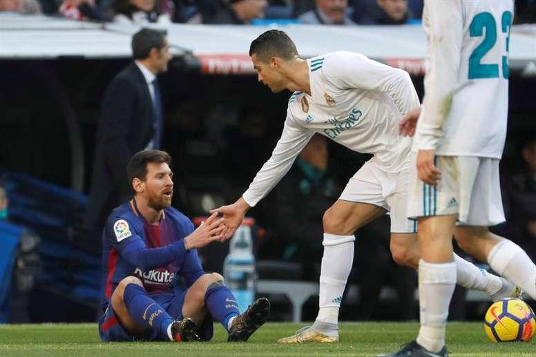 Messi et Cristiano, en haut du classement. EFE