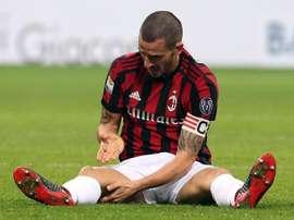 Bonucci telefoneó a Ranocchia antes de que se suspendiera la jornada. EFE/EPA