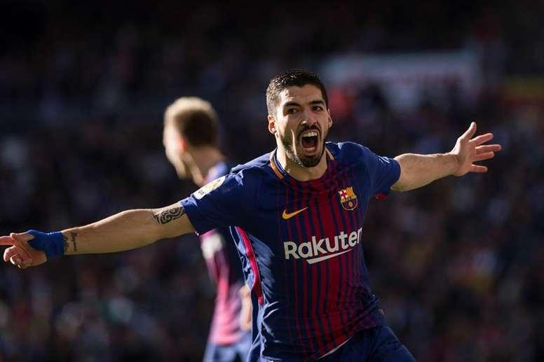 Luis Suárez aún no sabe lo que es marcar en Anoeta. EFE